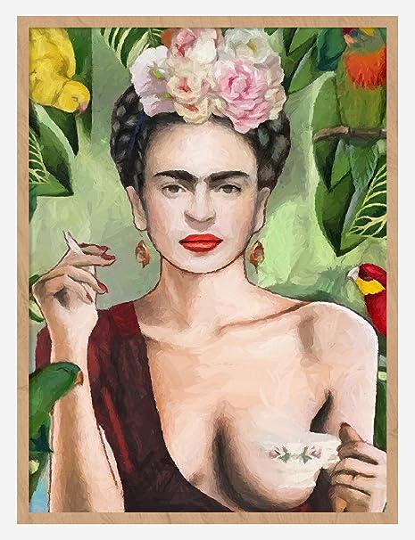 Self Portrait Frida Kahlo CANVAS or PRINT WALL ART
