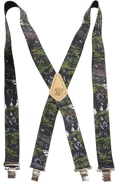 """SANTA RED American Made Custom 2/"""" Wide Suspenders Metal Clips CHRISTMAS"""