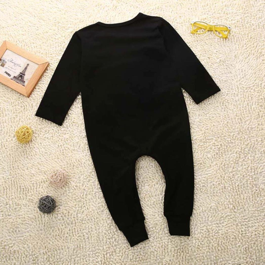 For 0-24 Months Baby DIGOOD Newborn Infant Baby Boy Girl Letter Cotton Jumpsuit Romper Outfits Clothes