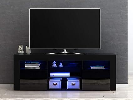 Panana-B - Mueble Moderno para televisor LED con estantes y ...