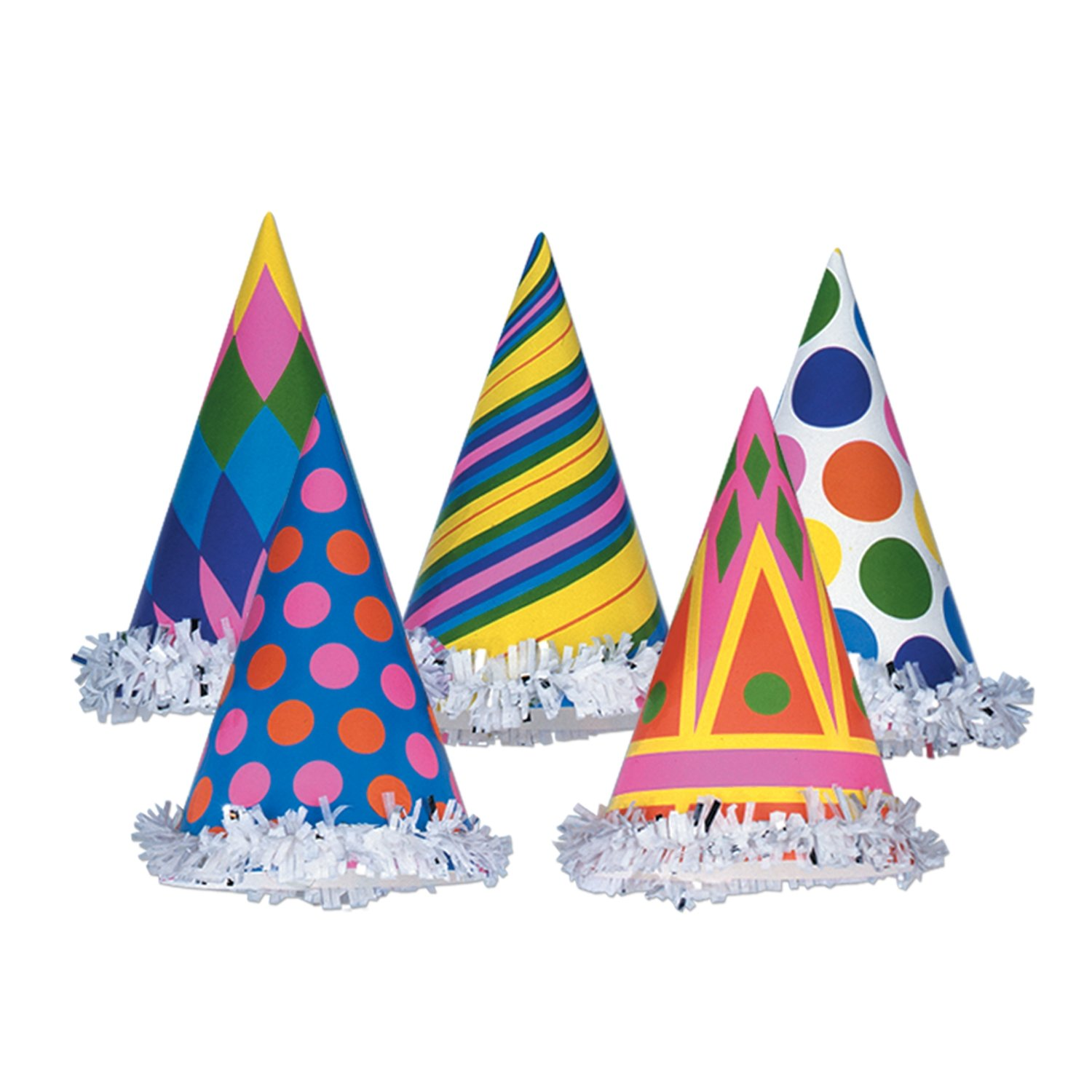 Beistle 66027 Includes 144 Fringed Party Hats, 61/2-Inch by Beistle