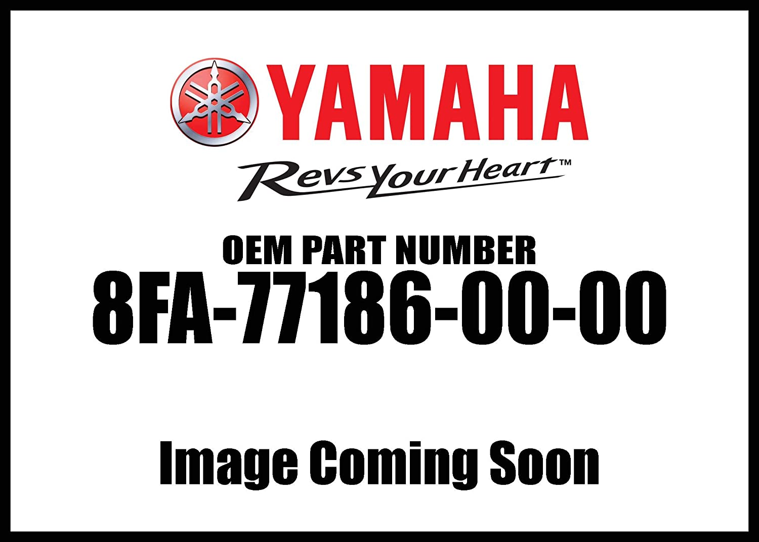 Yamaha 8FA-77186-00-00 Plate 2; 8FA771860000 Made by Yamaha