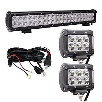 amazon com led light bar 20 126w combo cree waterproof 10ft led light bar 20 126w combo cree waterproof 10ft 40a 12v wiring