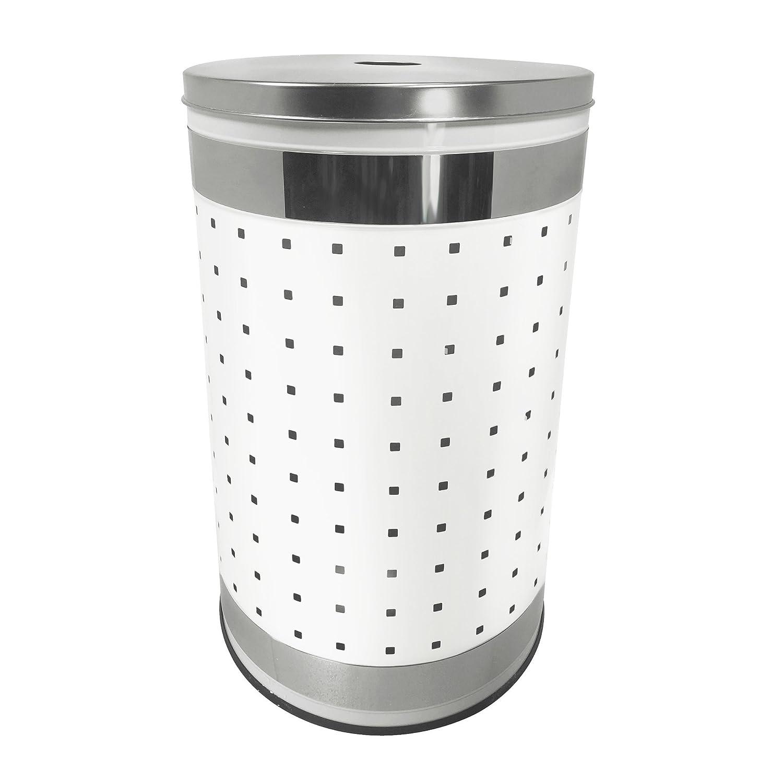 Amazon Com Krugg White Polished Stainless Steel Laundry Bin