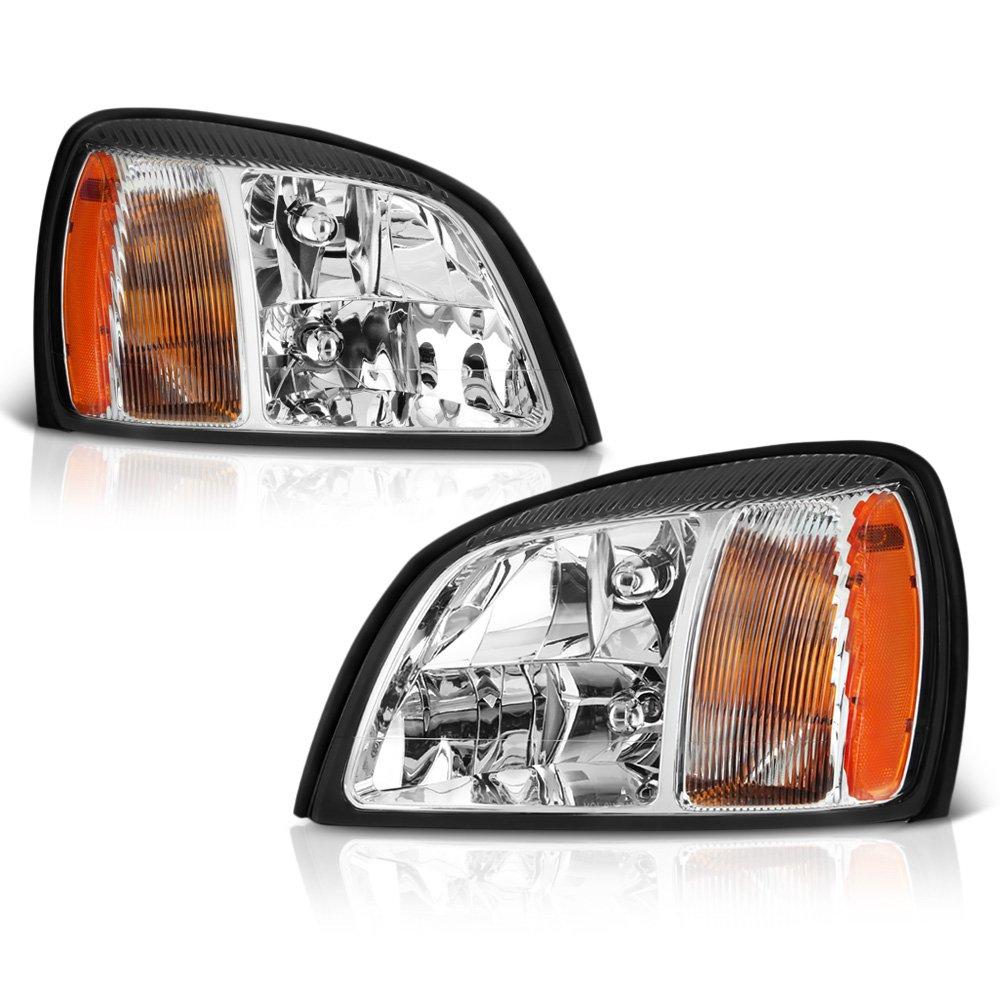 Amazon.com: VIPMOTOZ Chrome Housing OE-Style Headlight Headlamp Assembly For 2000-2005 Cadillac Deville, Driver & Passenger Side: Automotive