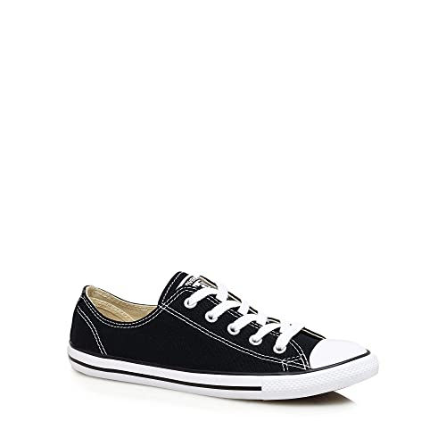 Converse Womens Black Canvas  Dainty  Trainers  Amazon.co.uk  Shoes ... 1152c6e34
