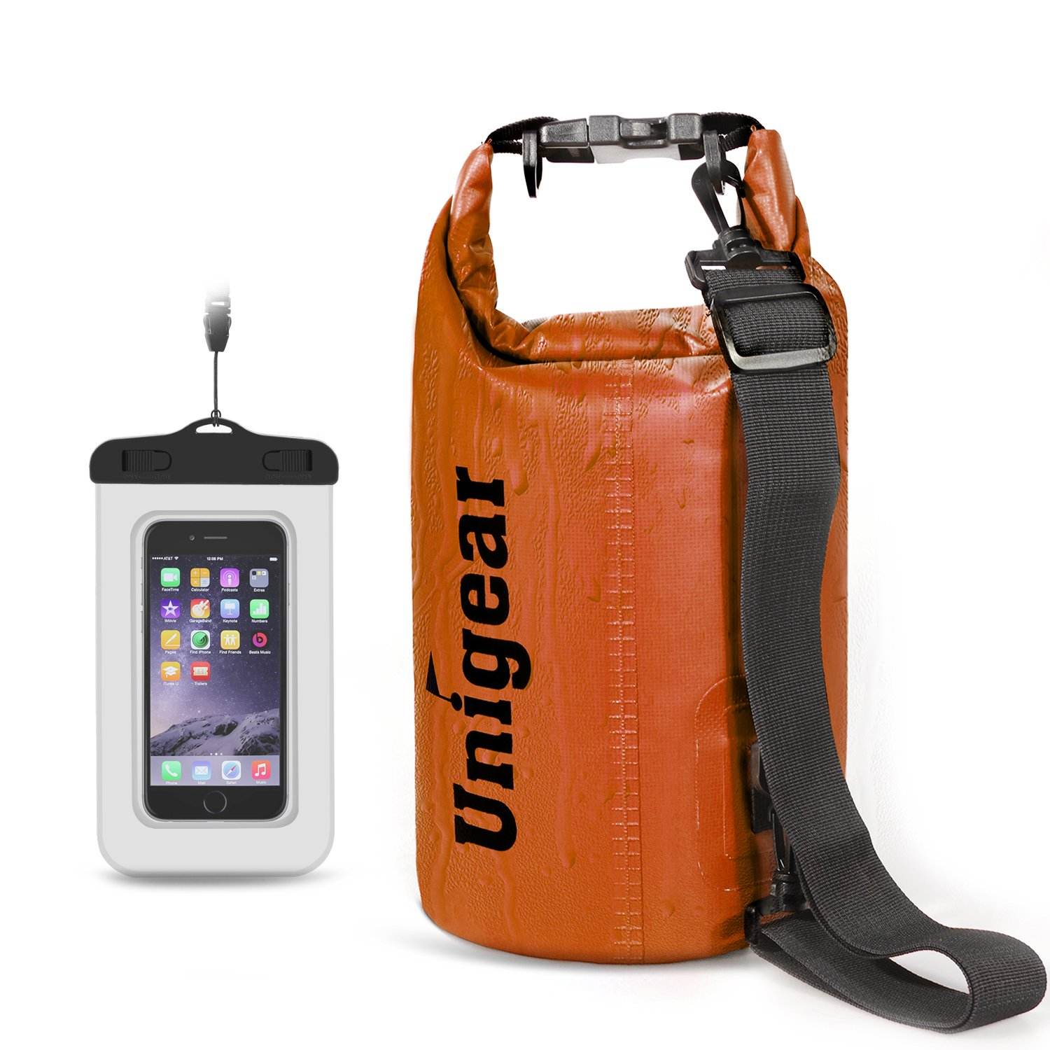 Unigear Dry Bag Waterproof, Floating and Lightweight Bags for Kayaking, Boating, Fishing, Swimming and Camping with Waterproof Phone Case, 2L/5L/10L/20L/30L/40L by Unigear