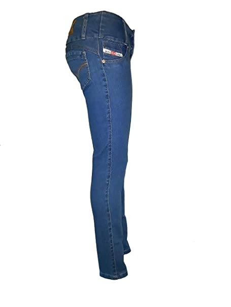 Vaquero Pantalon De Push Mujer Jeans Up Colombiano Levanta Cola 453ARqjL