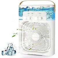 AILUKI Mini-airconditioner, 3-in-1 USB-verdampingsluchtkoeler, persoonlijke luchtbevochtiger met 7 kleuren led-licht…