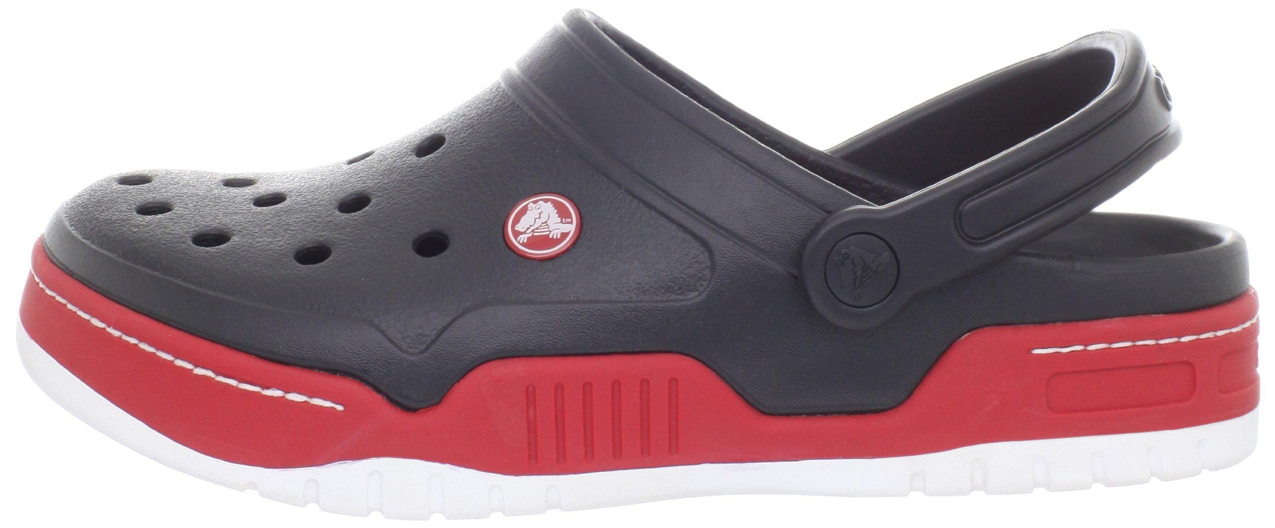 Crocs Men's 14300 Front Court Clog, Black/Red, 10 M US by Crocs (Image #5)