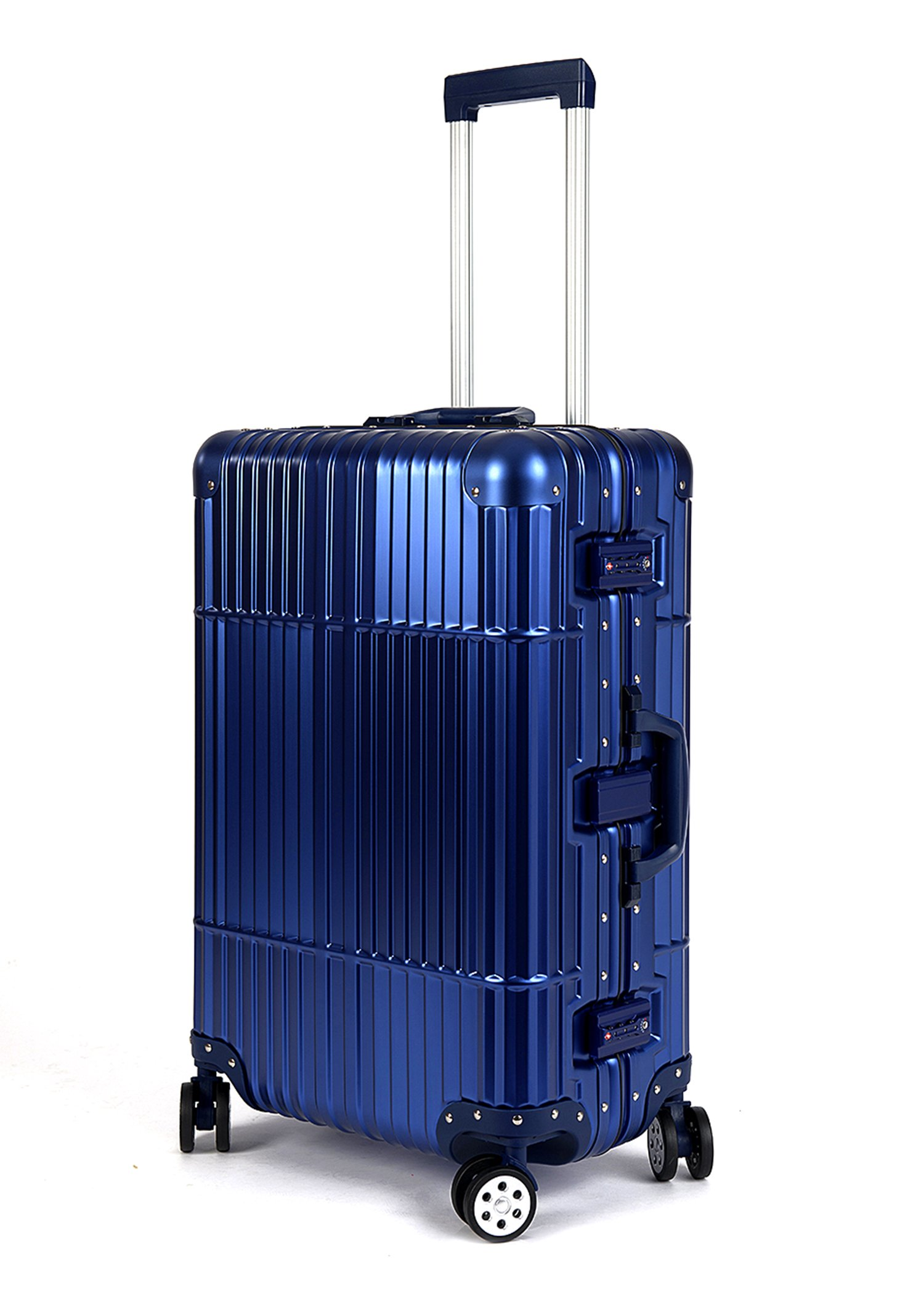 Cloud 9 - All Aluminum Luxury Hard Case Different Sizes to Choose From (20'',24'',28'') Durable with 360 Degree 4 Wheel Spinner TSA Approved Single Luggage Only
