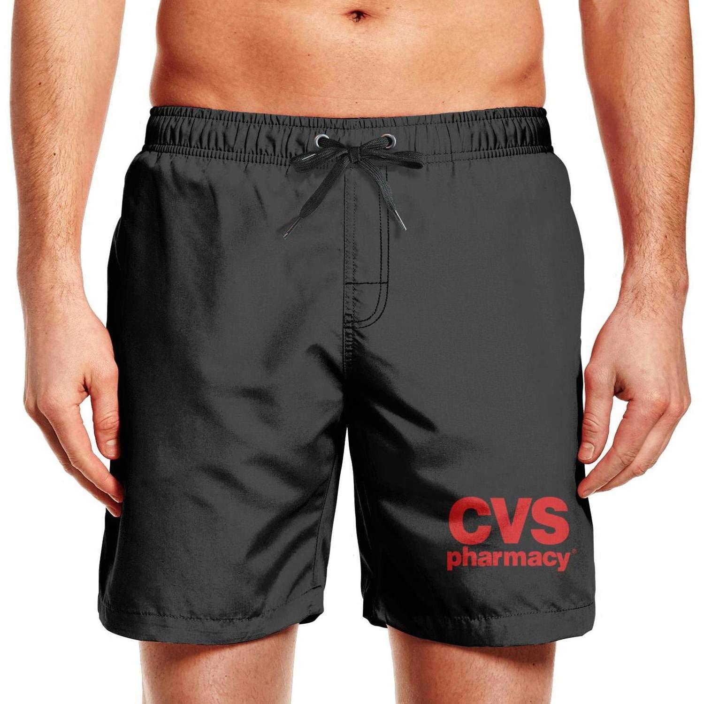 kdioutya CVS Pharmacy Logo Men Swim Adjustable Elastic Beach Shorts Medium LengthVolley Shorts Mesh Lining