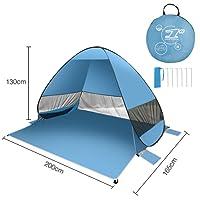 FITFIRST Strandzelt, Pop-up,Leicht Automatik Strandmuschel mit Boden Sonnenschutz UV-Schutz, für Familien Aktivität, Outdoor, Strand
