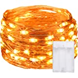 Ehome Fairy String Lights, Fairy Lights 3AA Battery Operated, 16.5ft 50LED Christmas Lights Copper Wire Lights Firefly…