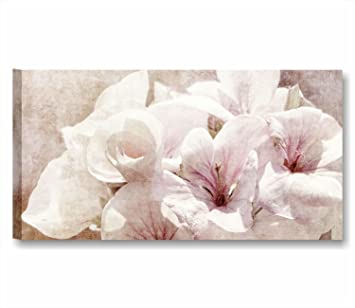 Blumen Vintage 11 U2013 Modernes Bild 90 X 45 Cm Druck Auf Leinwand Shabby Boho  Chic