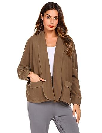 3b53488720 Ekouaer Bed Jacket for Women Warm Winter Coat Sweater Cape Peter Pan ...