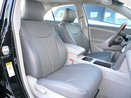 Clazzio 200232tan Tan Leather Front and Rear Row Seat Cover for Toyota Camry L//LE//XLE