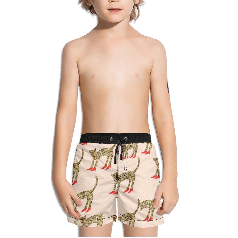 Ouxioaz Boys Swim Trunk Tiger with High Heels Beach Board Shorts