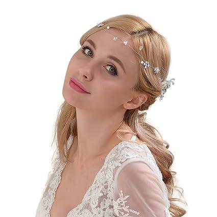 topq ueen Pearl Cerchietti Corona Cristallo Nozze Cerchietti sposa capelli  di testine gioielli  Amazon.it  Bellezza ce11da85200e