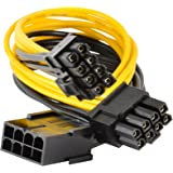 JacobsParts PCI Express Power Splitter Cable 8-pin to 2x 6+2-pin (6-pin/8-pin) 18 AWG