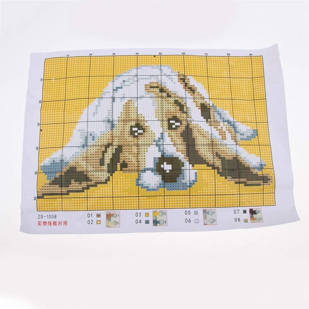Teppich Stickpackung Kn/üpfteppiche Kn/üpfbild Tier Hund f/ür Erwachsene Kinder 58x40cm freneci 2 Satz Kn/üpfteppich mit Kn/üpfhaken und Kn/üpfwolle