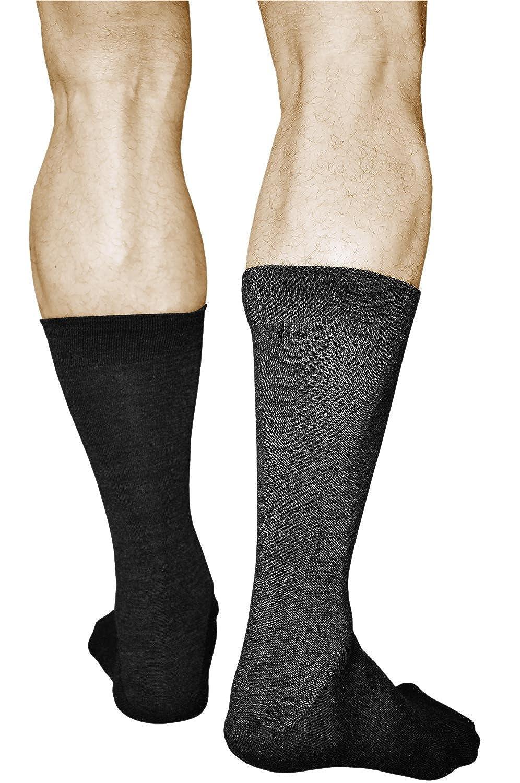 Para el Fr/ío Invierno Oto/ño Calidad Premium vitsocks Calcetines LANA MERINO Hombre 2 PARES