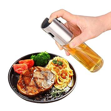 KidsHobby - Spray de aceite, dispensador de aceite, 100 ml, para barbacoa, ensalada, cocina, hornear, asar, asar y freír: Amazon.es: Hogar