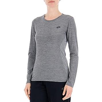 Lotto t5136 Camiseta Mango Largo Mujer, Mujer, T5136, Mezcla De Grises, XS