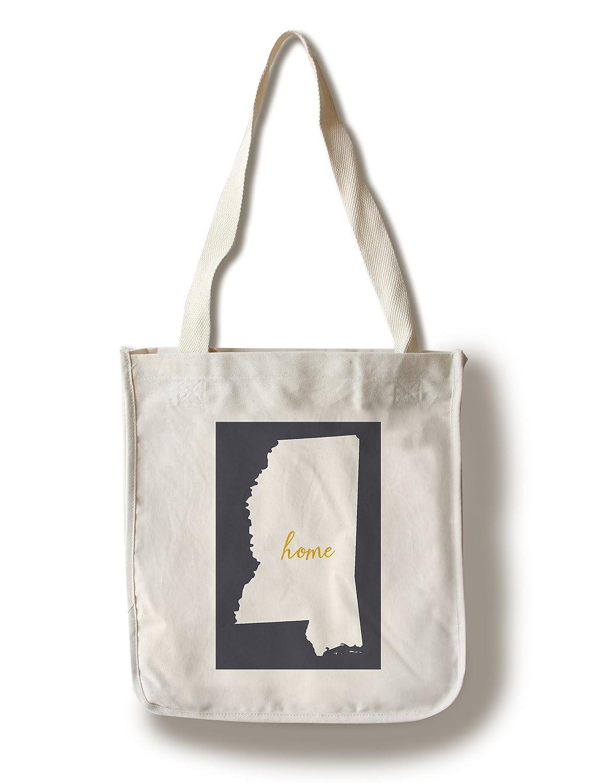 Mississippi – ホーム状態 – ホワイトonグレー Canvas Tote Bag LANT-66615-TT B01B488C5Q  Canvas Tote Bag