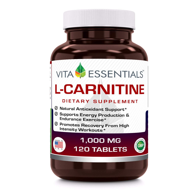 Vita Essentials Tablets, L-Carnitine, 1000 Mg, 120 Count