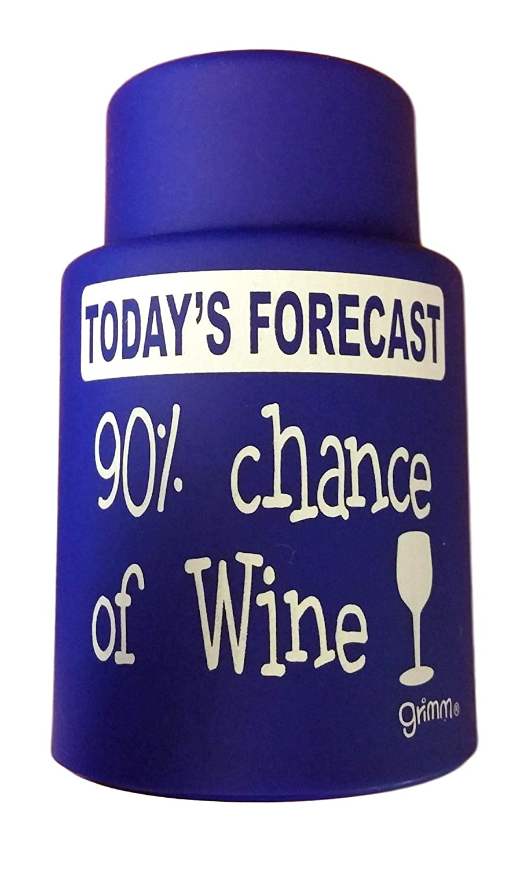 Grimm ユーモラスな真空ワインストッパー ワインを最大30日間保存するのに役立ちます。 Today's Forcast: ワインのチャンス90% B07NZVQ4X3