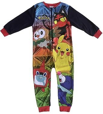 a4024bfe6 Pokemon Kids All in One Boys Girls Childrens Fleece Onesie Sleepsuit ...