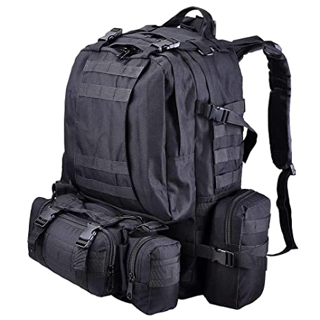 0db1951d44cc AW 55L 600D Oxford Military Tactical Army Rucksacks Molle Backpack Camping  Outdoor Hiking Trekking Traveling Bag