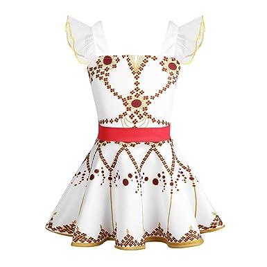 dPois Enfant Fille Déguisement Félicie Robe de Danse Ballet Fleur Cosplay  Costume de Danse Tutu Princesse 3e9a21a2a3b