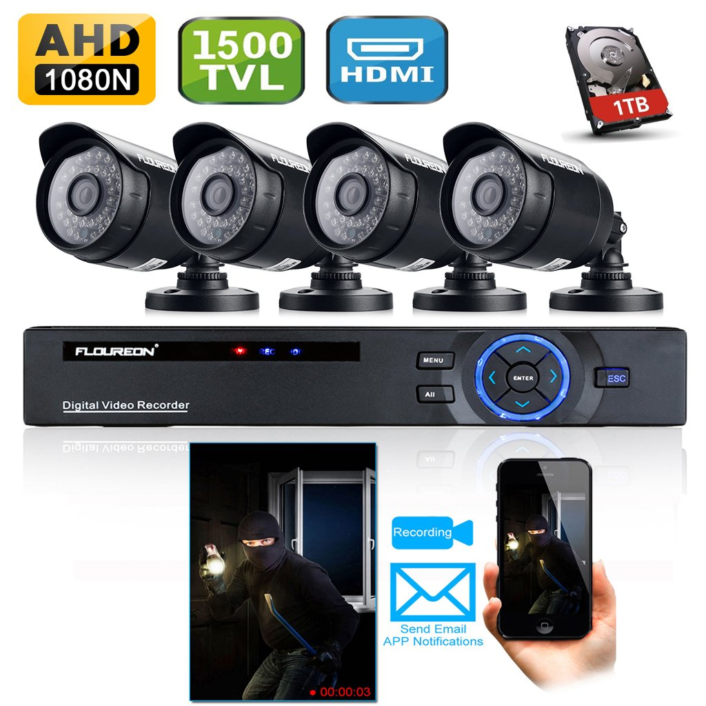 FLOUREON DVR Kit de Videovigilancia Sistemas: Amazon.es: Bricolaje y herramientas