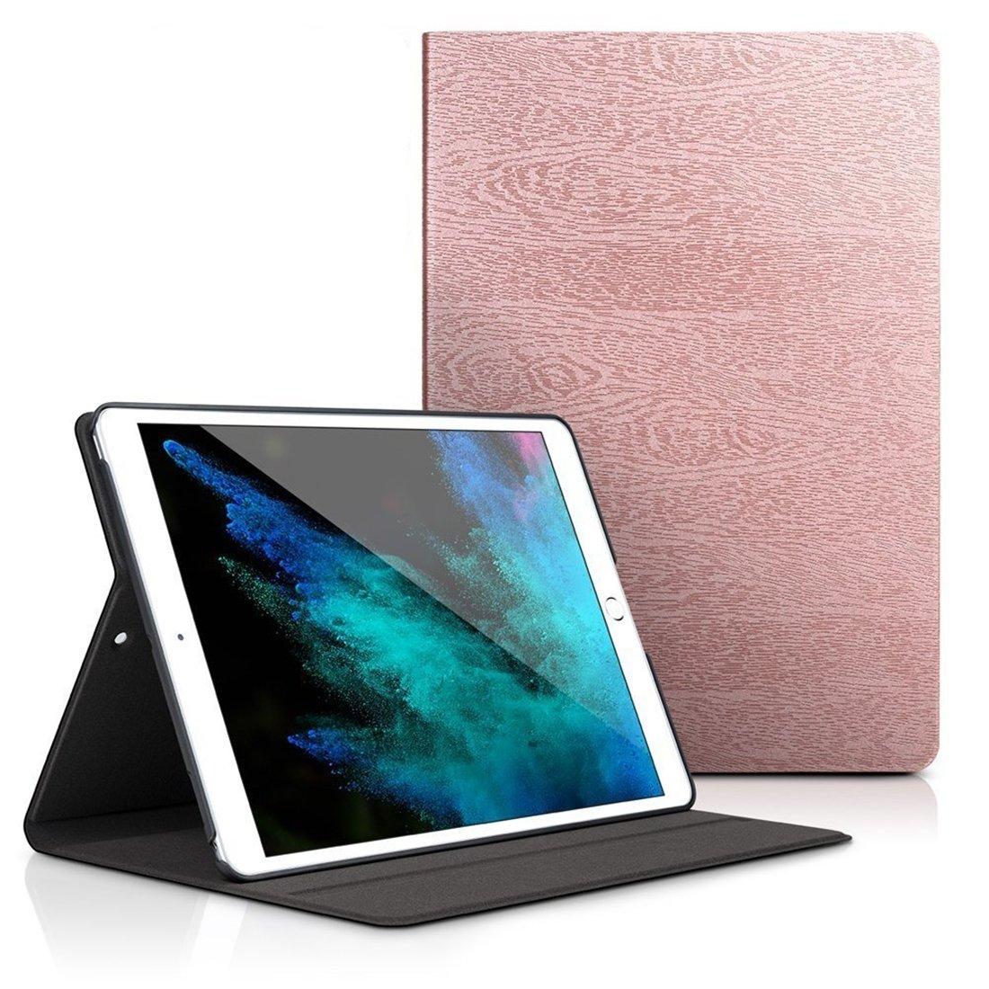 iPad Mini 4 Case,Dream Wings Slim Book Style Stand with Auto Sleep/Wake Screen Protective Smart Cover for Apple iPad Mini 4 7.9 inch Tablet (Rose Gold)