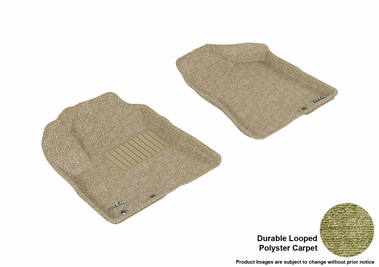 3D MAXpider Second Row Custom Fit Floor Mat for Select Kia Sorento Models Black Classic Carpet L1KA00922209