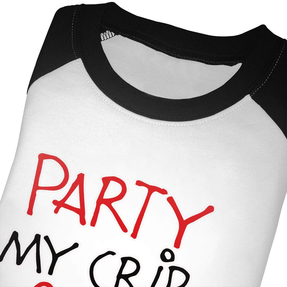 Cosy Party at My Crib 2 A.m Bring Bottle Unisex 100/% Cotton Childrens 3//4 Sleeves T-Shirt Top Tees 2T~5//6T
