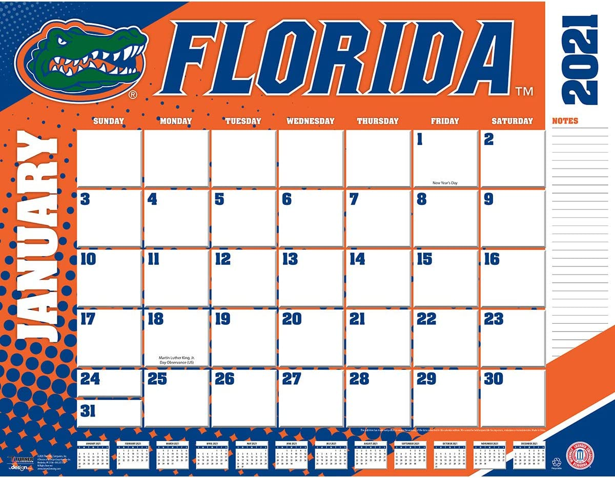 TURNER Sports Florida Gators 2021 22X17 Desk Calendar (21998061477)