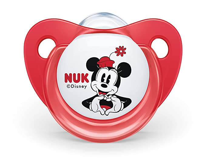 NUK 10176212 Disney Mickey Mouse Trend Line Chupete, silicona, 6 – 18 meses, sin BPA), 2 unidades), color rojo