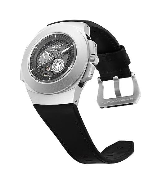 atmoz Hombres automático de la novedad desmontable reemplazable partes mecánico reloj de pulsera Horween Chromexcel correa de cuero 24 horas pantalla ...