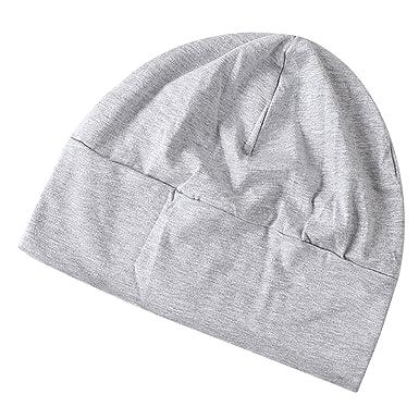 doux et léger premier coup d'oeil techniques modernes Bonnet de Nuit Coton Multiusage avec Masque des Yeux Chapeau Souple Tricoté  Adulte Unisexe