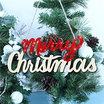merry christmas letter cardboard hanging ornaments wooden for xmas indoor tree banners letter strings decorations - Christmas Letter Decorations