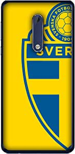 ColorKing Football Sweden 04 Yellow shell case cover for Nokia 5