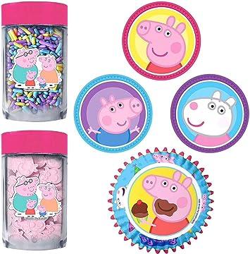Amazon.com: Kit de decoración para cupcakes de Peppa Pig ...