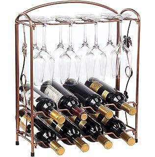 Amazoncom Kamalm Classic Tabletop Wine Glasses Racks 6 Wine Glass