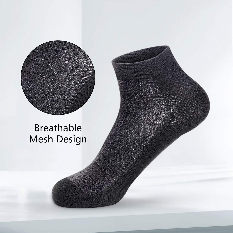SERISIMPLE Bamboo Women Ankle Sock Chaussettes respirantes /à mailles fines pour l/ét/é Chaussettes de refroidissement anti-odeurs coupe-bas 5 paires