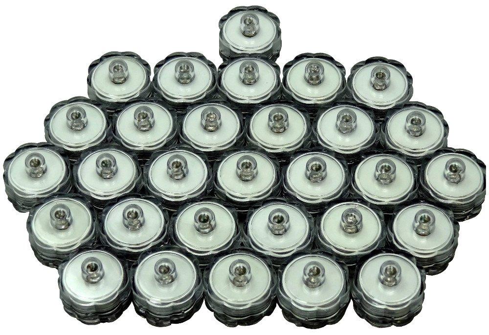 Bluedot Trading Turqoise 30 sumbersible Waterproof Candle Lights-Submersible LED Tea Lights-30 Turquoise