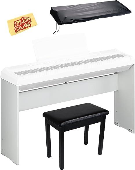 Yamaha L-85 Madera Piano digital Bundle Soporte para P-35, P ...
