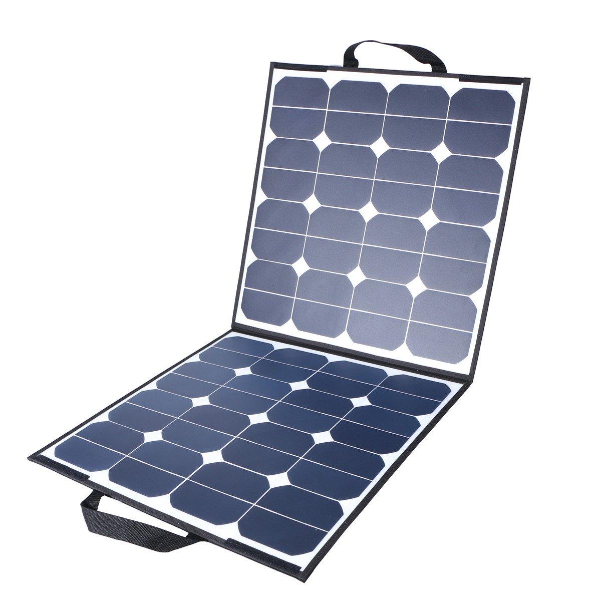 MOHOO ソーラーパネル 5.5A 18V 100W 太陽光パネル 太陽光発電パネル Sunパワー 折りたたみ式 単結晶 フレキシブル 超薄型 ソーラーチャージャー MC4接続 SP4 B07117TK35 ソーラーパネル折りたたみ式